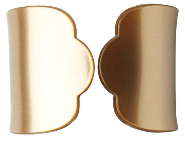 S/4 Old-Fashion Napkin Rings, Caramel