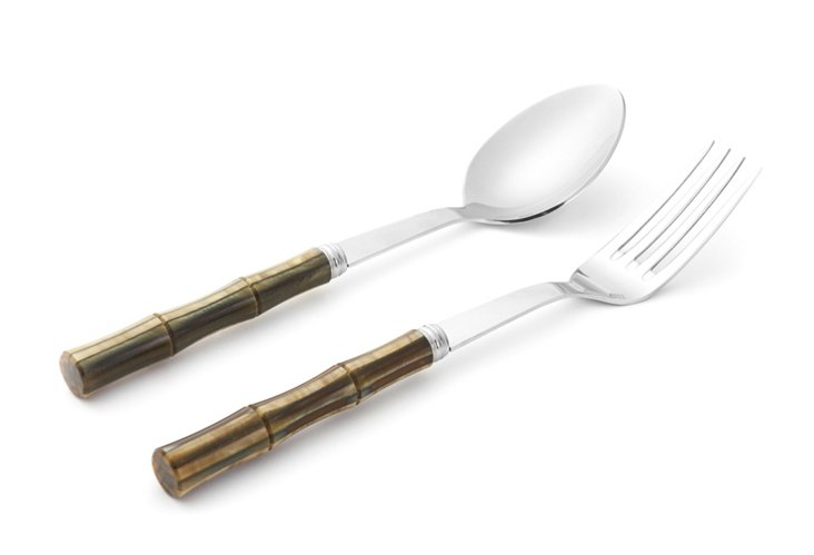 2-Pc Bamboo Serving Set, Jungle