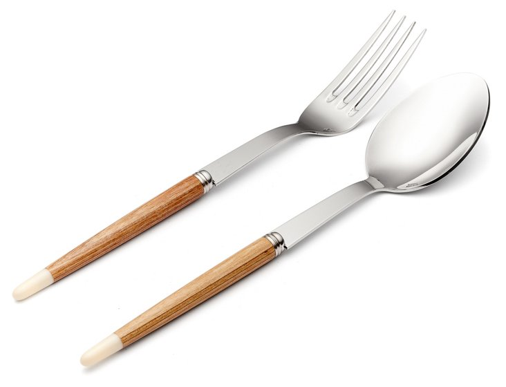 2-Pc Aquarelle Serving Set, White