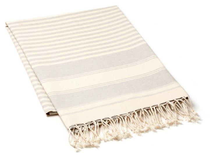 Fouta Graduation Towel, Gray