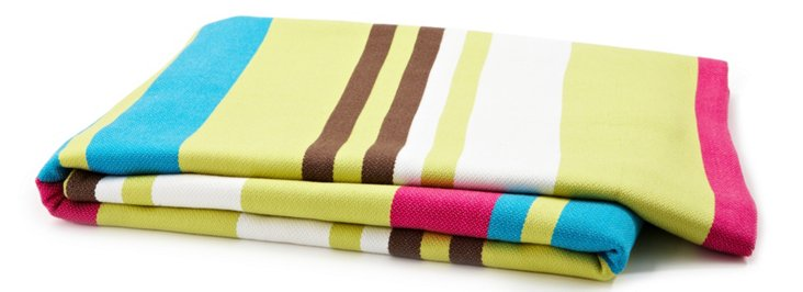 Multi Stripes Throw, Neon
