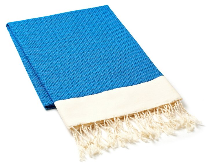 Fouta Chine Solid Towel, Blue