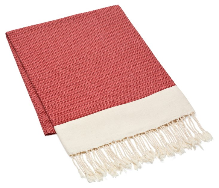 Fouta Chine Solid Towel, Red