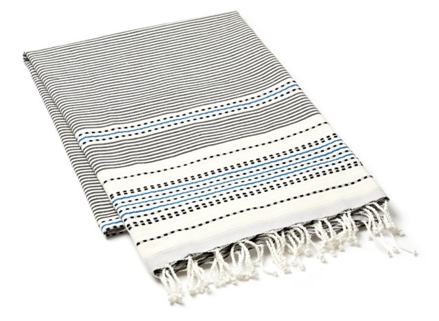 Fouta Multi Striped Towel, White