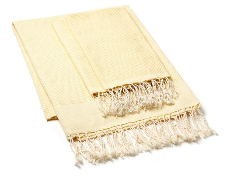 Fouta & S/2 Hand Towels, Straw