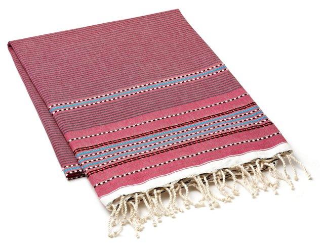 Fouta Multi Striped Towel, Pink