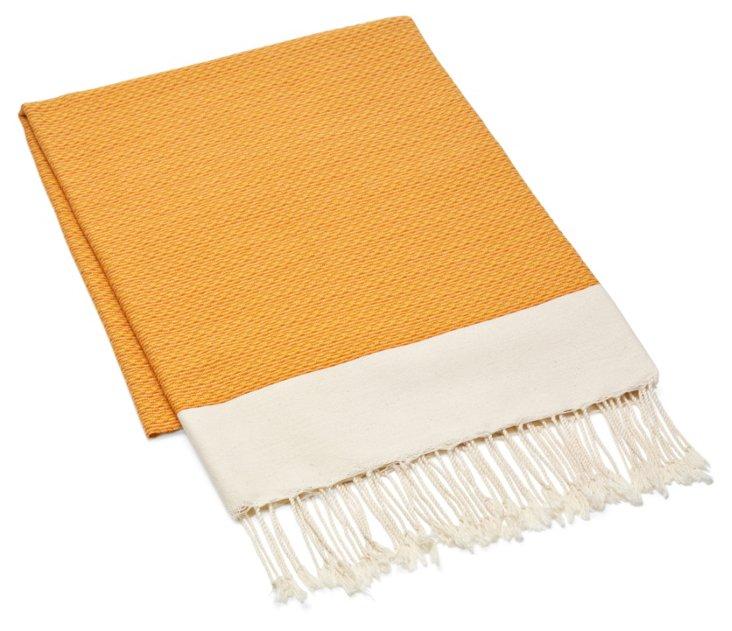 Fouta Chine Solid Towel, Orange