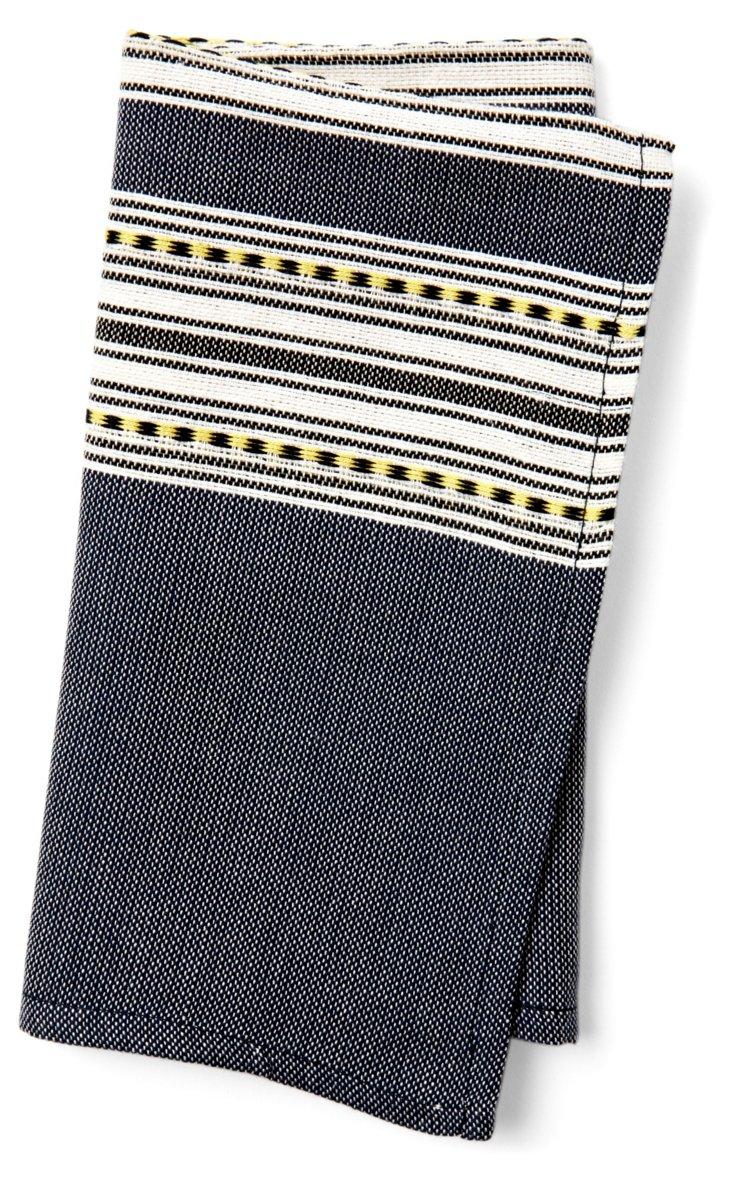 Set of 6 Jacquard Stripes Napkins, Gray