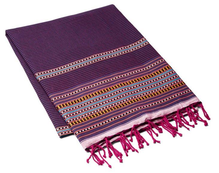 Fouta Multi Striped Towel, Violet