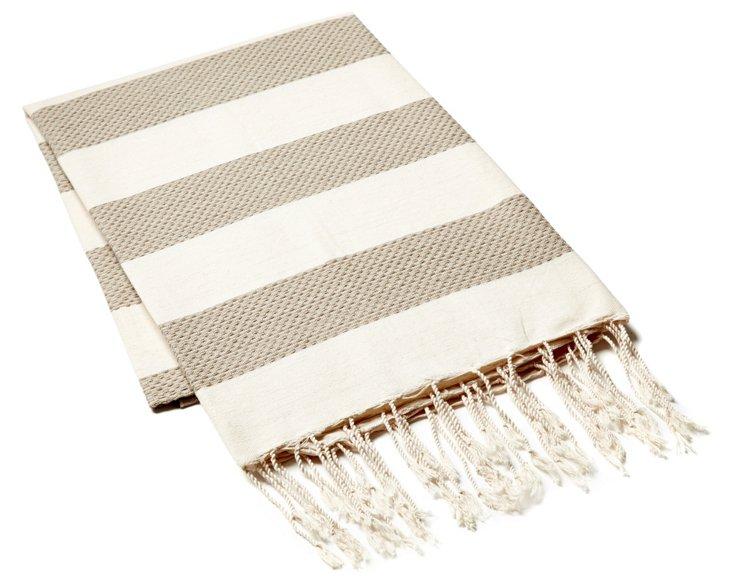 Fouta Chine Striped Towel, Beige