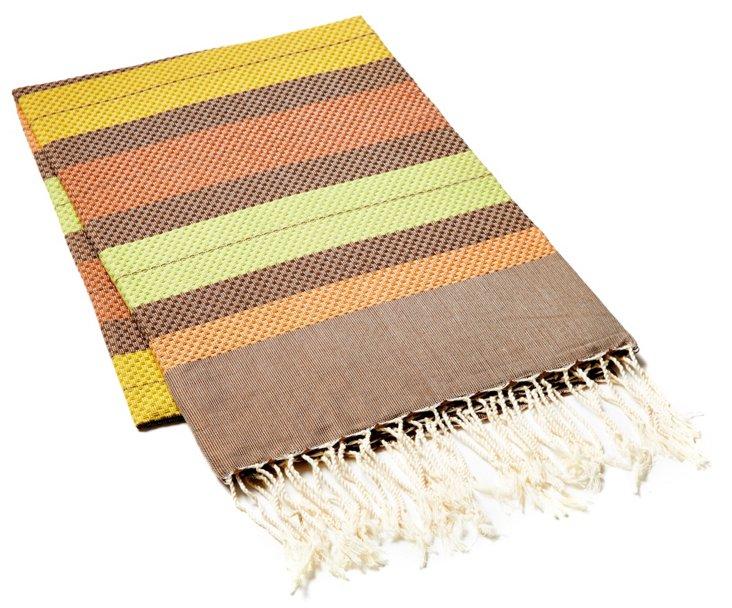Fouta Striped Towel, Multi/Verbena