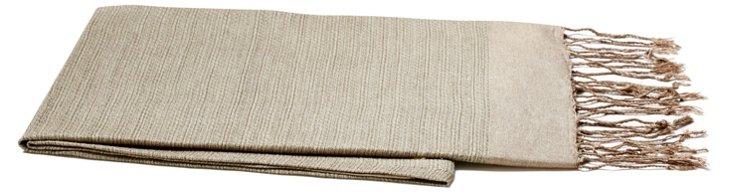 Tweed Throw, Khaki/Beige