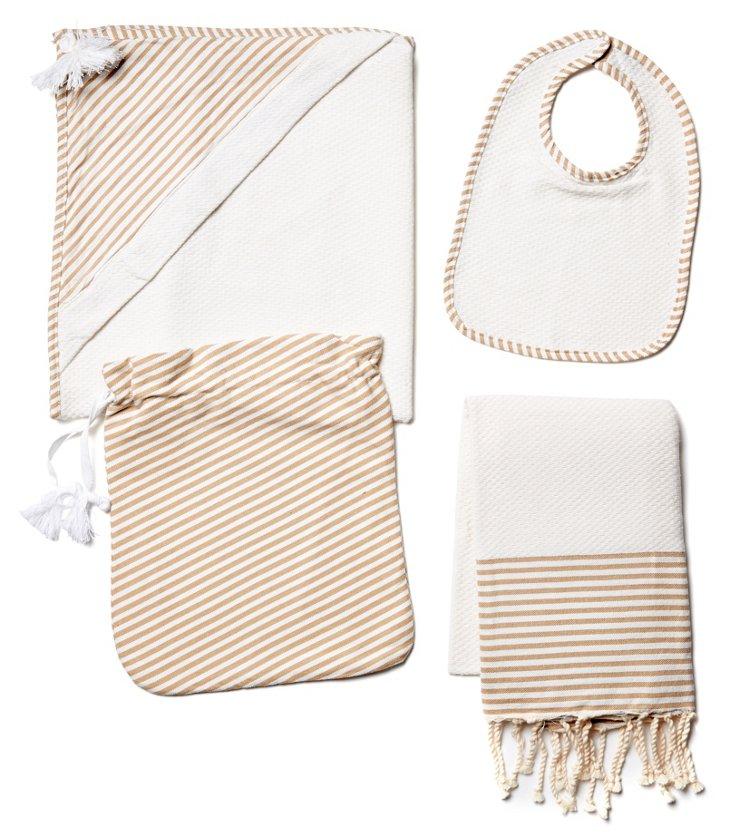 4-Pc Baby Set, White