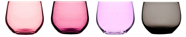 S/4 Assorted Spectra Tumblers, Purple