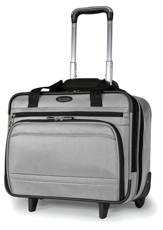 """17"""" Wheeled Tote, Silver"""