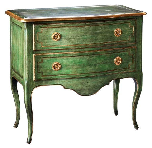 Edmund Bombé Chest, Green