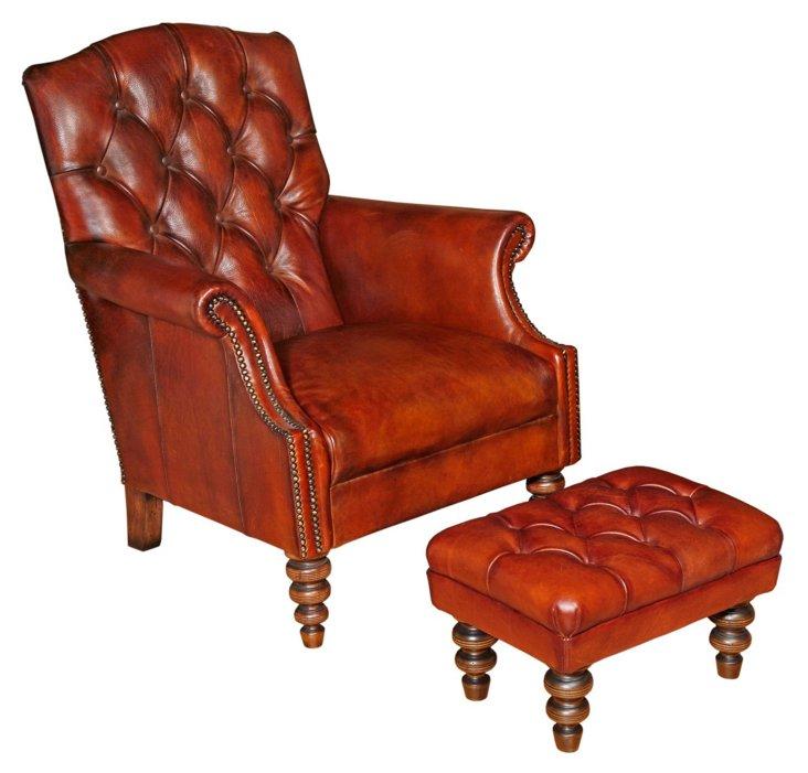 Arthur Chair & Ottoman