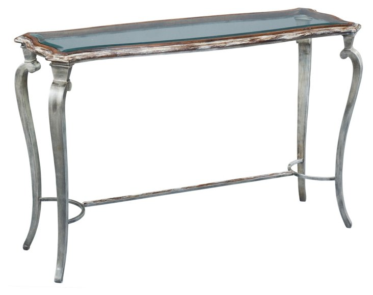 "Kingston 54"" Console, Silver/Copper"