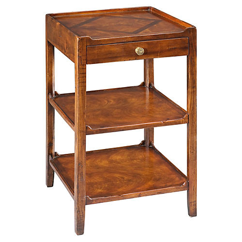 Douglas 3-Tier Table, Walnut