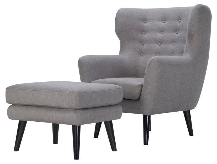 Bergen Chair & Ottoman