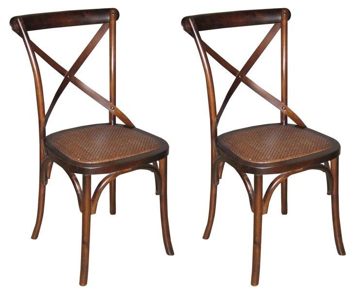Tuileries Side Chairs, Pair