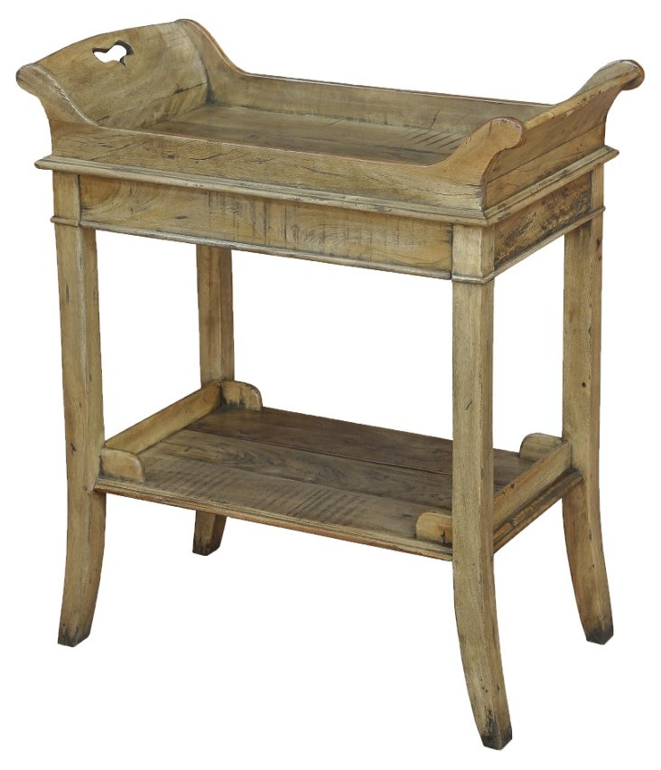 "Darla 28"" Tray Table, Driftwood"