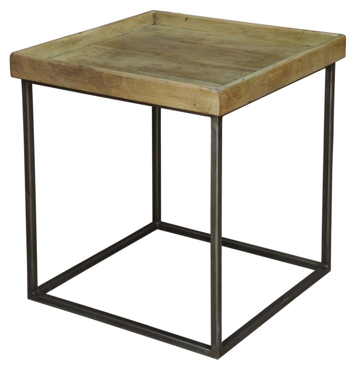 Square Tray Table, Driftwood