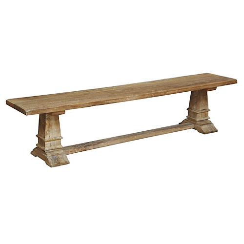 Rustic Farmhouse Dining Bench #farmhouse #bench #rustic #farmbench #frenchfarmhouse