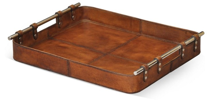 19x15 Safari Leather Tray