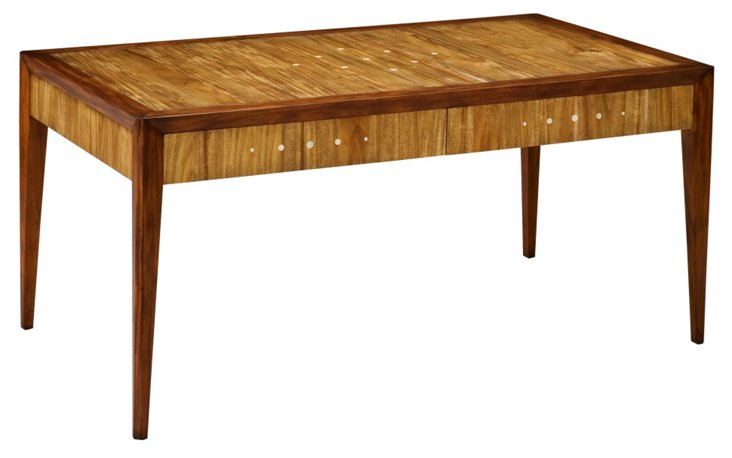 """Leandra 64"""" Dining Table, Toffee"""