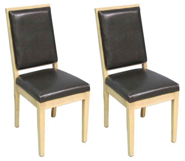Stuart  Side Chairs, Pair