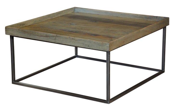 "Hendricks 36"" Tray Coffee Table, Umber"