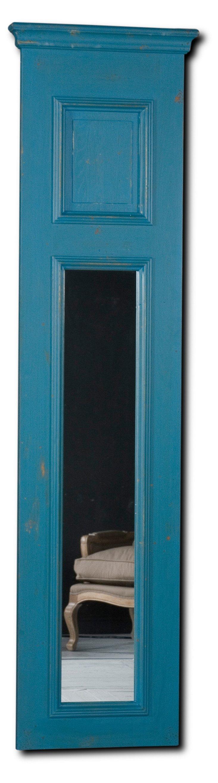 Anna Panel Mirror, Rustic Blue