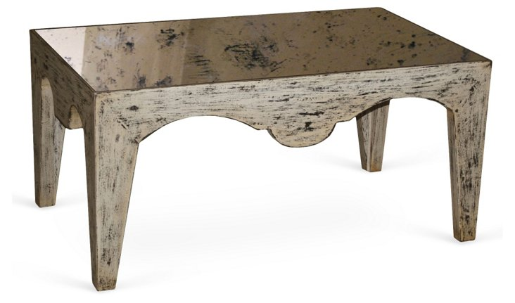"""Avalon 40"""" Mirrored Coffee Table"""
