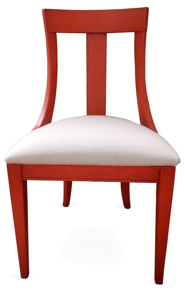 Athena Side Chair, Red