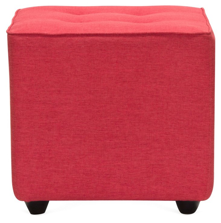 Jana Small Ottoman, Red