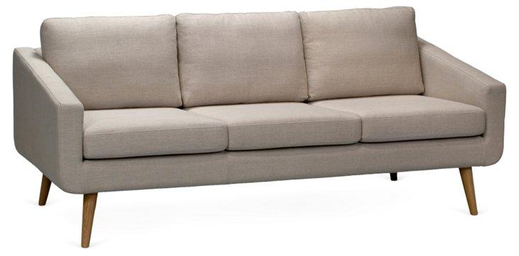 """Danish 80"""" Sofa, Natural"""