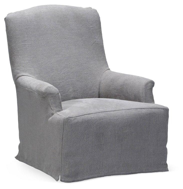 Bickford Chair, Gray Linen