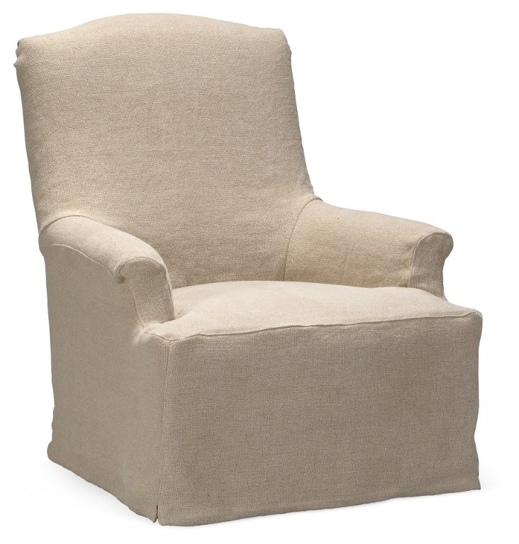 Bickford Chair, Wheat Linen