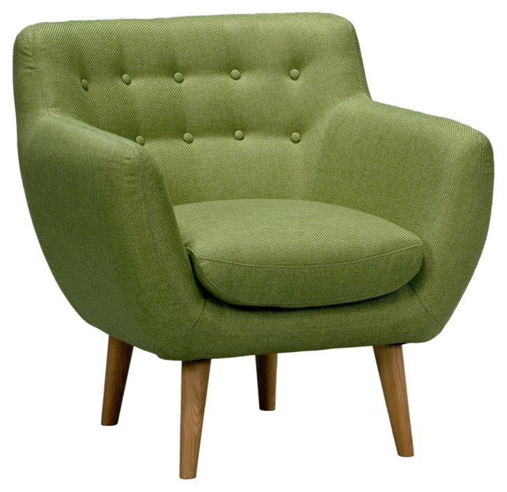 Retro Chair, Lime