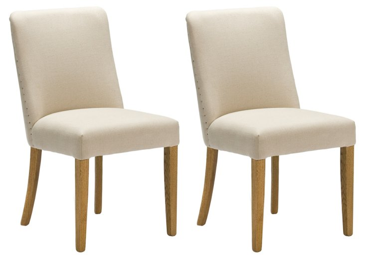 Wing Side Chairs, Pair