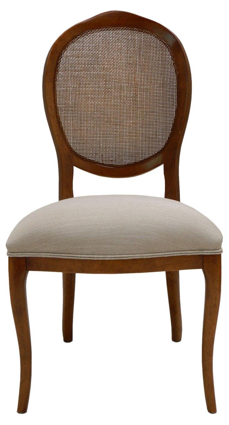Abrella Oval Back Chair, Pair