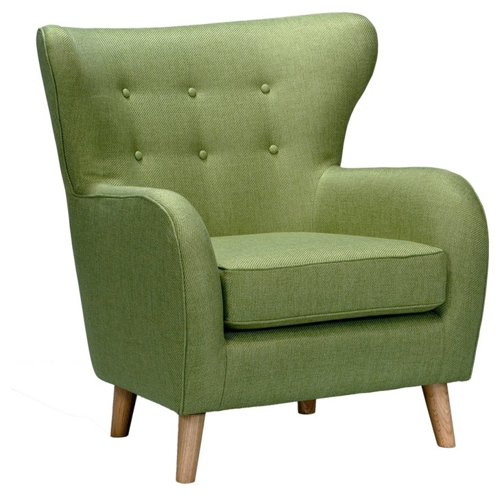 Azusa Tufted Accent Chair, Green
