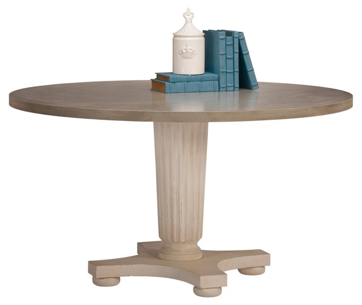 """Fontana 54"""" Round Dining Table, Taupe"""