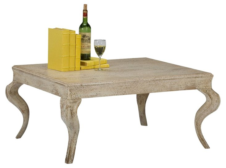 """Ian 41"""" Cocktail Table, Cappuccino"""