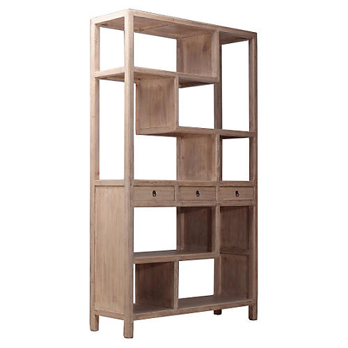 Right Folded Bookshelf, Natural