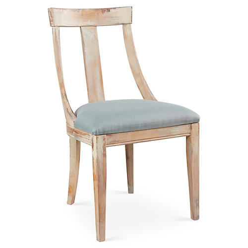 Deco Side Chair, Spa Linen