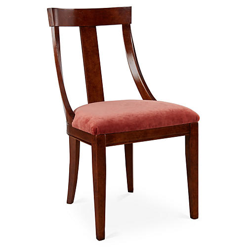 Deco Side Chair, Zinnia Velvet
