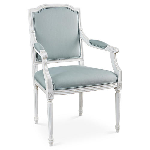Louis Armchair, Spa Linen