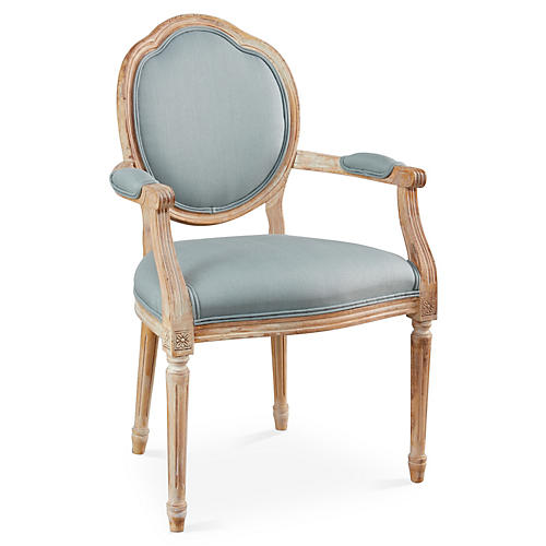 Louis Armchair, Spa Linen
